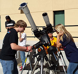 teens at the telescopes